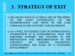 strategy of exit30