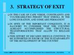 strategy of exit33