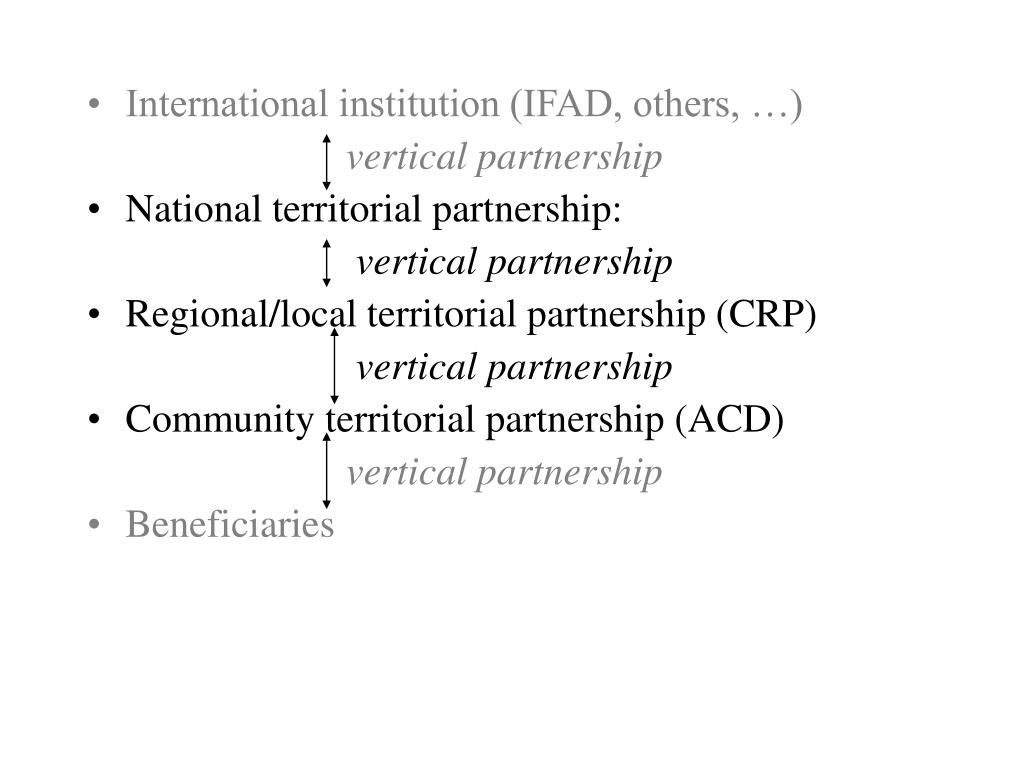International institution (IFAD, others, …)