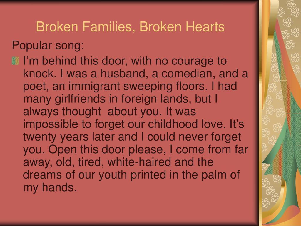 Broken Families, Broken Hearts
