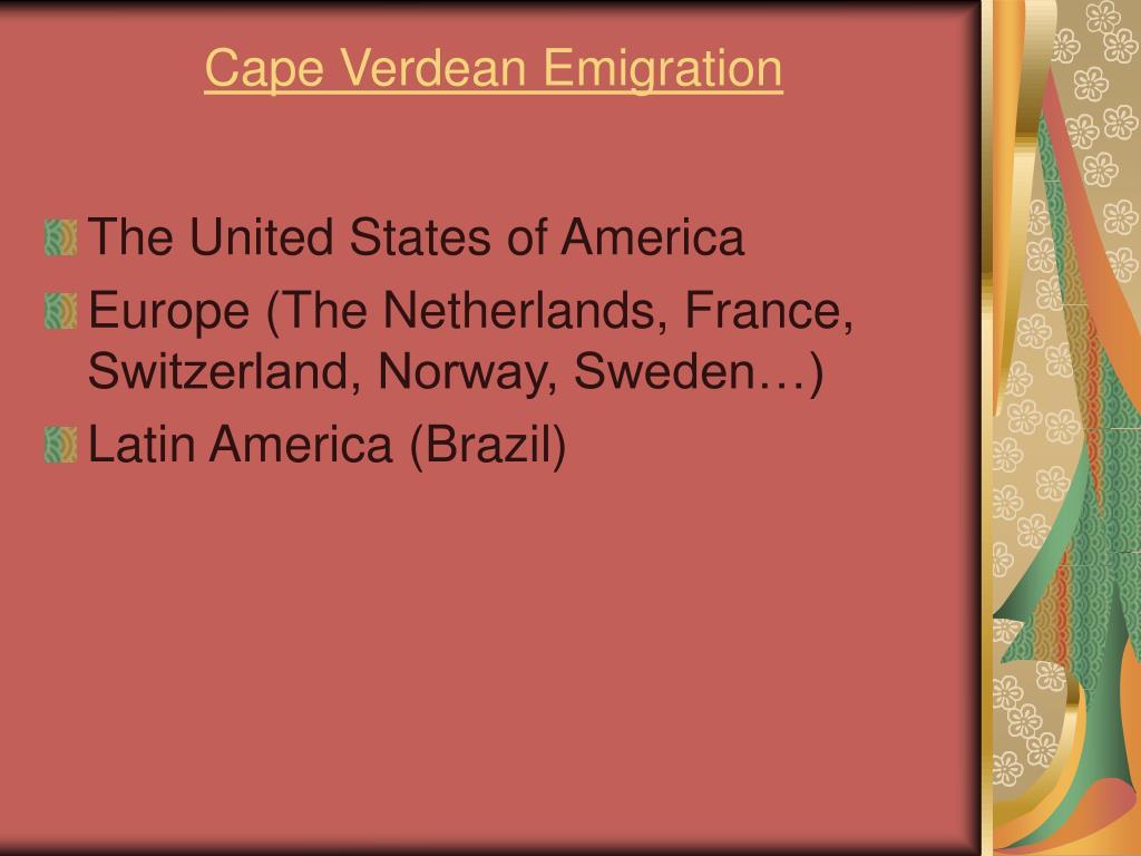 Cape Verdean Emigration
