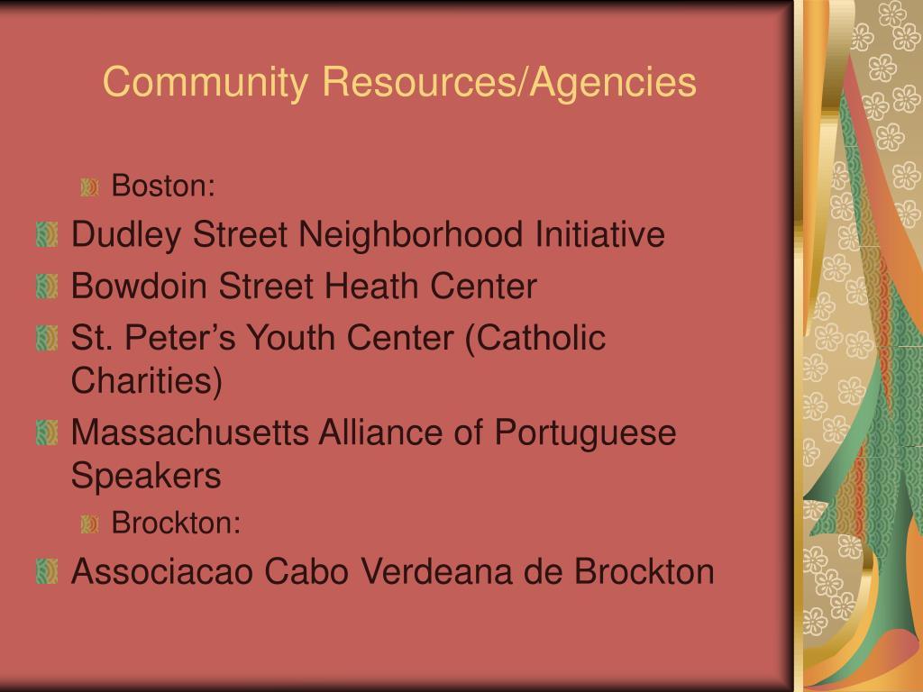 Community Resources/Agencies