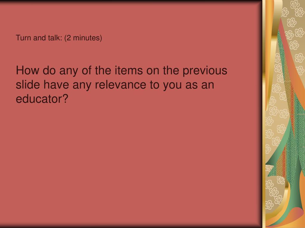 Turn and talk: (2 minutes)