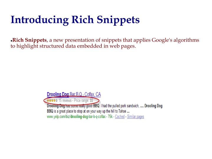 Introducing Rich Snippets
