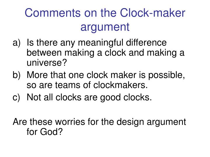essays on design argument In this essay i intend to look at the design argument in depth i will outline the key features of the design argument, looking at the historical aspects, the modern version (including the anthropic principle) and the important people in the argument for design, such as william paley and david hume.