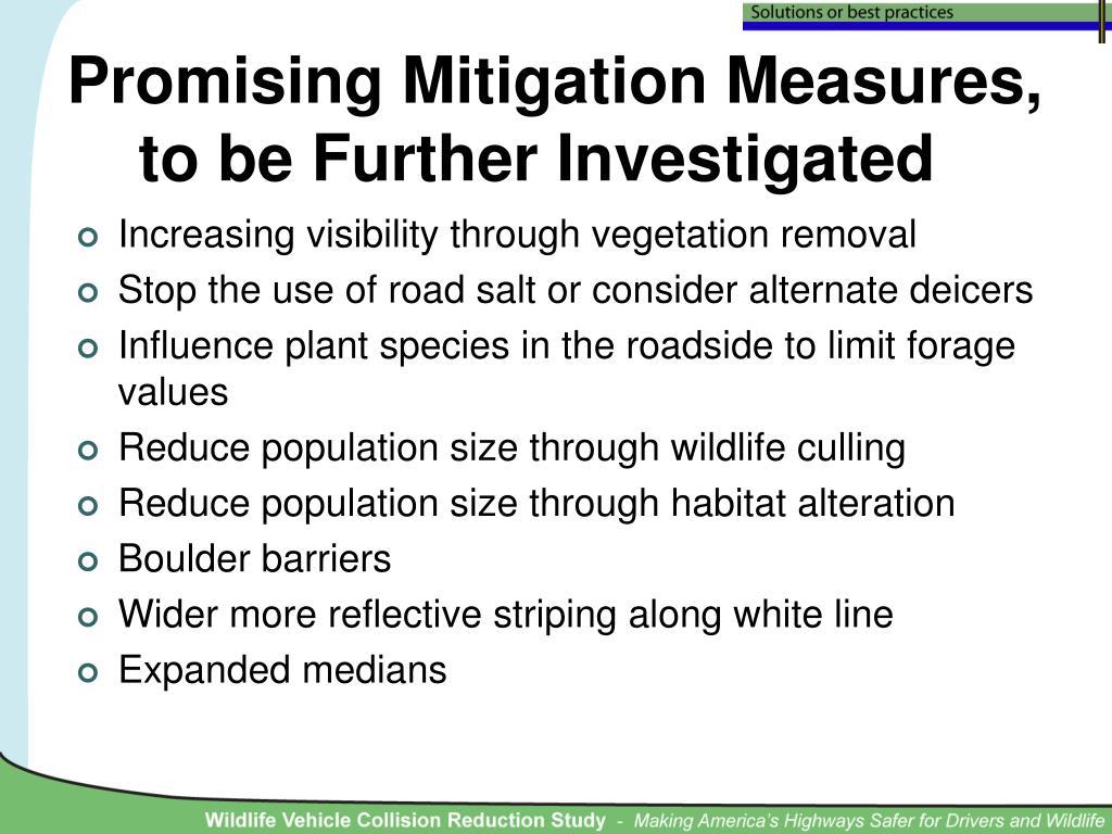 Promising Mitigation Measures,