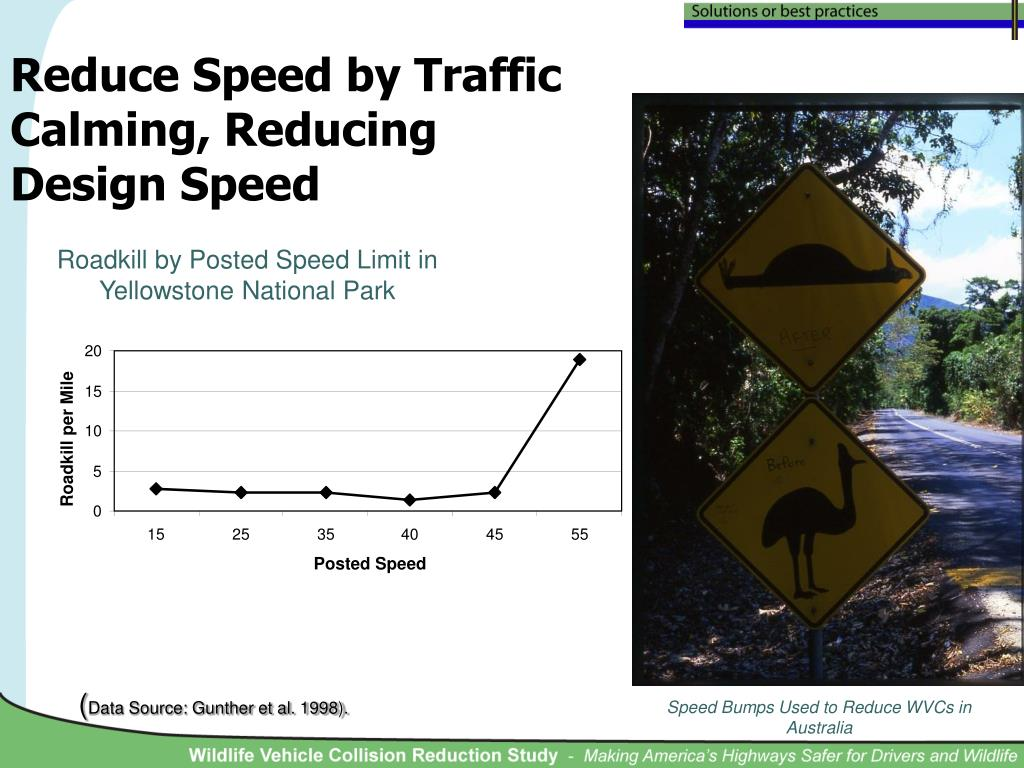 Reduce Speed by Traffic Calming, Reducing Design Speed