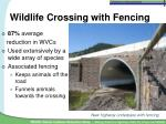 wildlife crossing with fencing