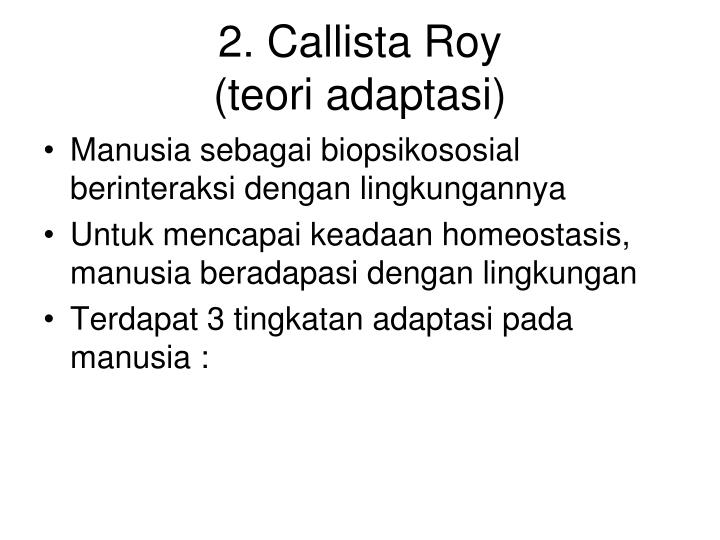 2. Callista Roy