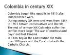 colombia in century xix