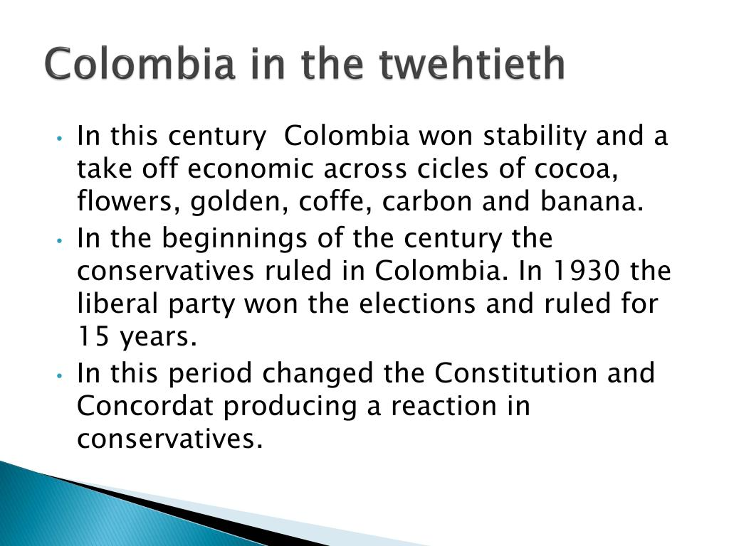 Colombia in the twehtieth
