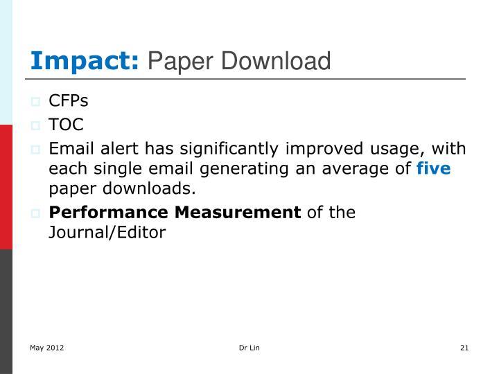 Impact:
