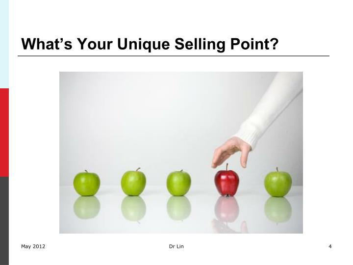 What's Your Unique Selling Point?