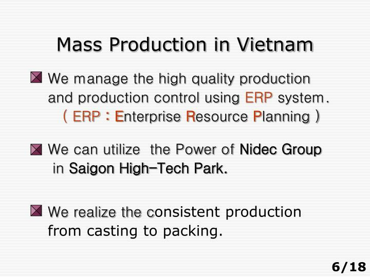 Mass Production in Vietnam