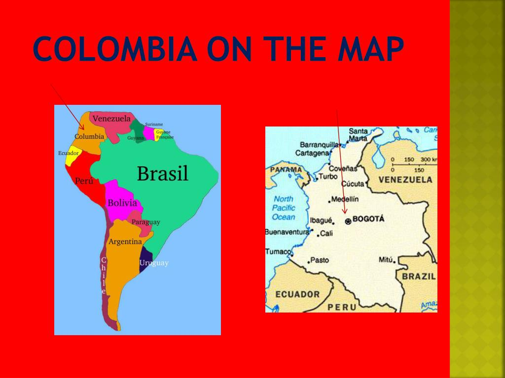 Colombia on the Map