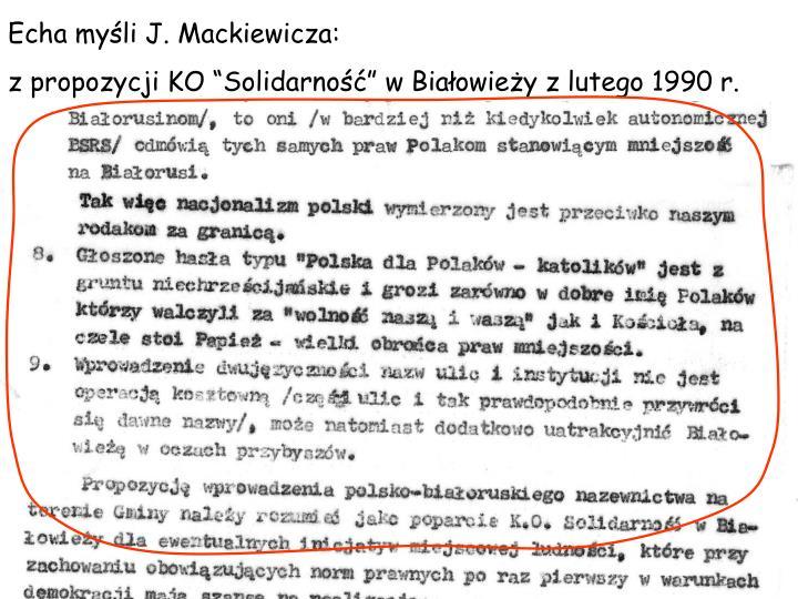 Echa myli J. Mackiewicza: