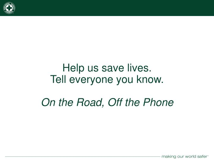 Help us save lives.