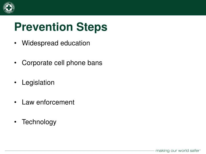Prevention Steps