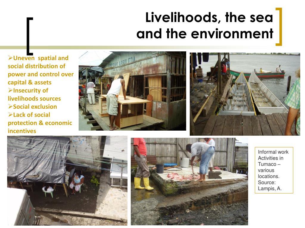 Livelihoods, the sea