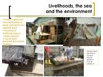 livelihoods the sea and the environment