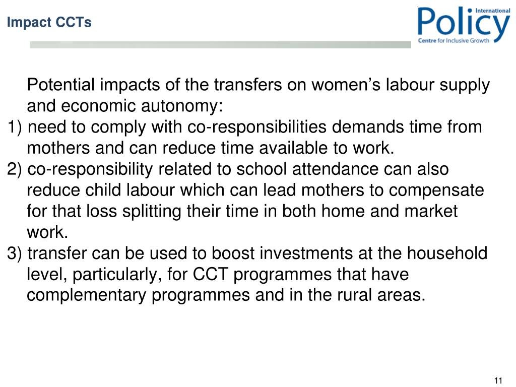Potential impacts of the transfers on women's labour supply and economic autonomy: