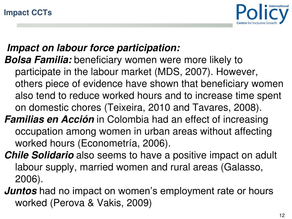 Impact on labour force participation: