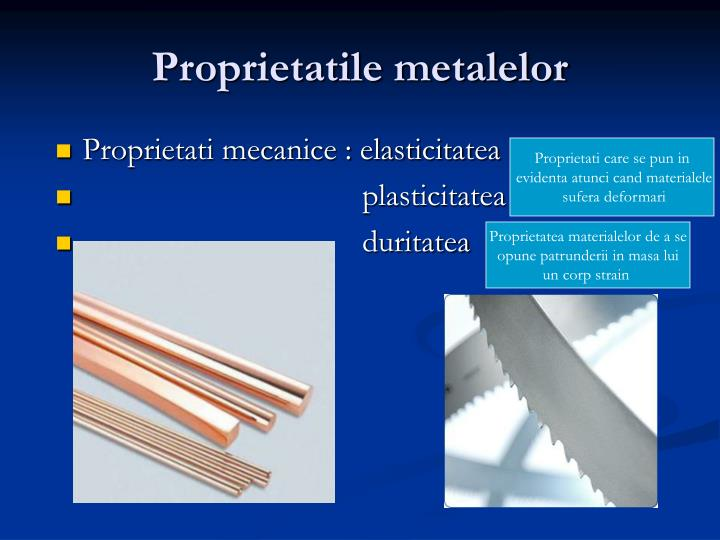 Proprietatile metalelor