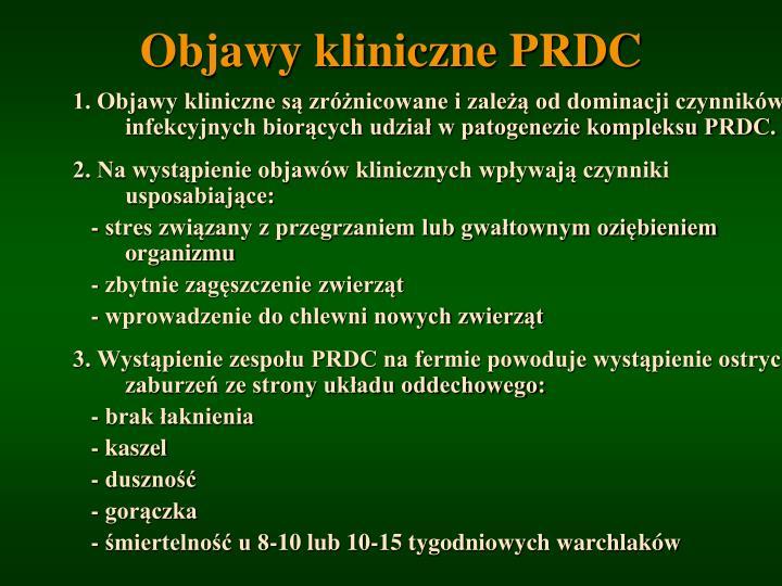 Objawy kliniczne PRD
