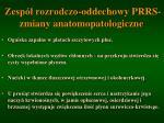 zesp rozrodczo oddechowy prrs zmiany anatomopatologiczne