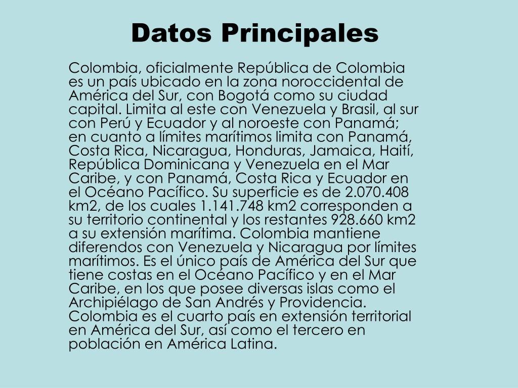Datos Principales