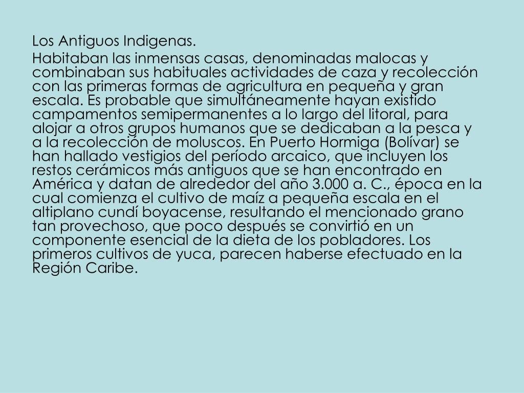 Los Antiguos Indigenas.