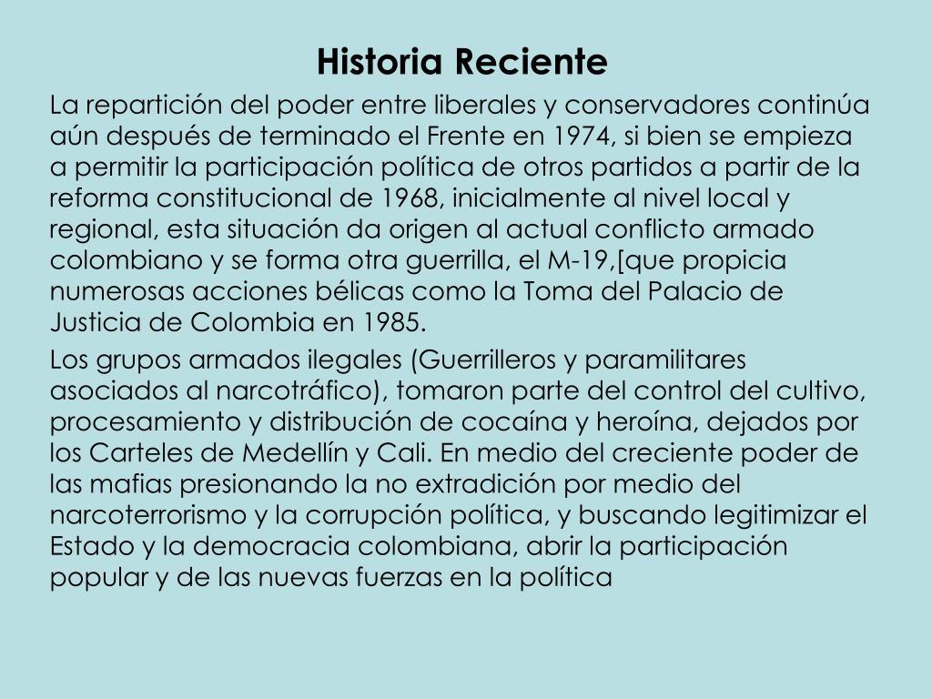 Historia Reciente