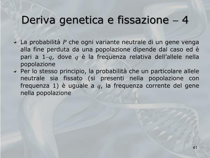 Deriva genetica e fissazione