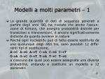 modelli a molti parametri 1