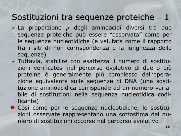 Sostituzioni tra sequenze proteiche