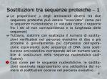 sostituzioni tra sequenze proteiche 1