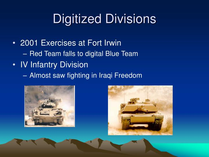 Digitized Divisions
