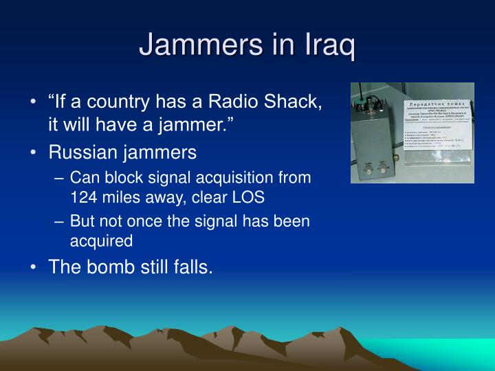 Jammers in Iraq