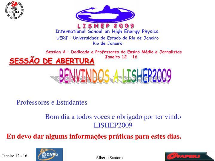 L I S H E P  2 0 0 9