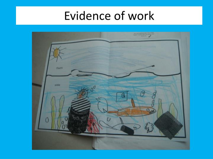 Evidence of work