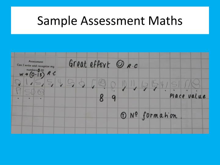 Sample Assessment