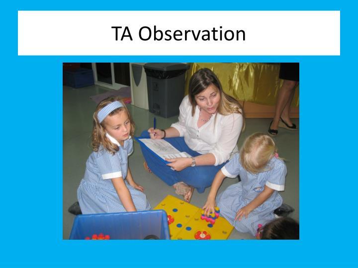 TA Observation