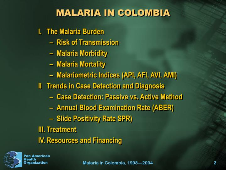 Malaria in colombia