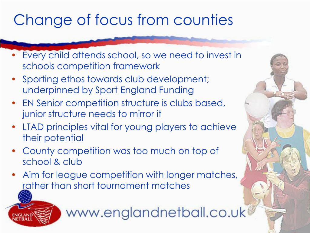 Change of focus from counties