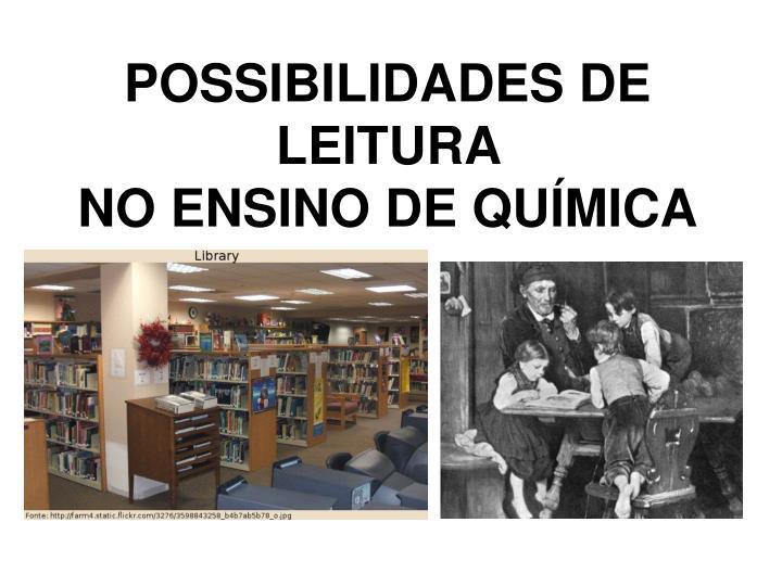 POSSIBILIDADES DE LEITURA