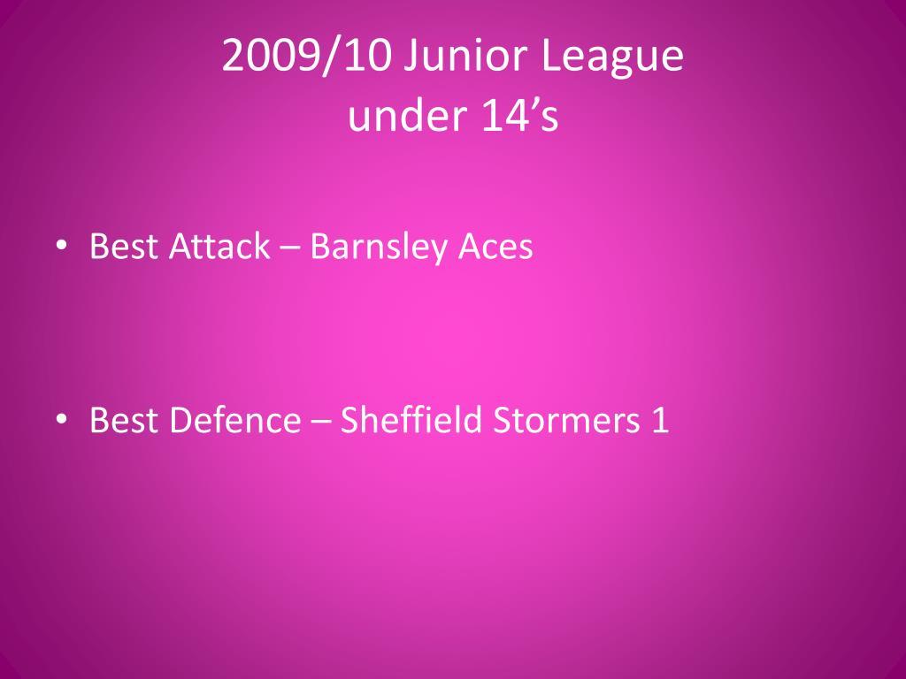2009/10 Junior League