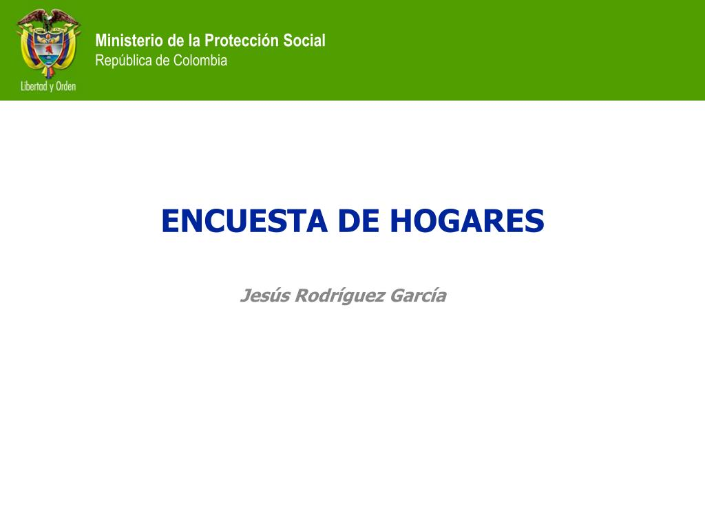 ENCUESTA DE HOGARES