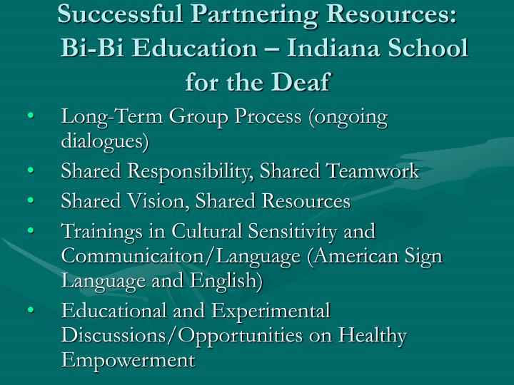 Successful Partnering Resources: