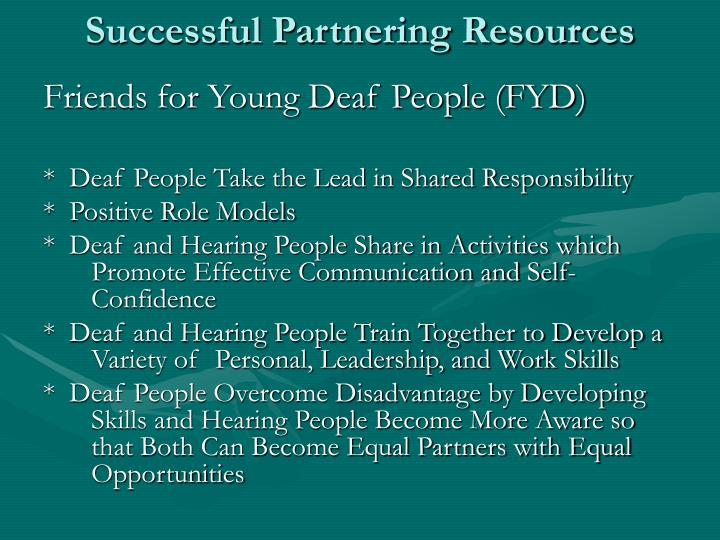 Successful Partnering Resources