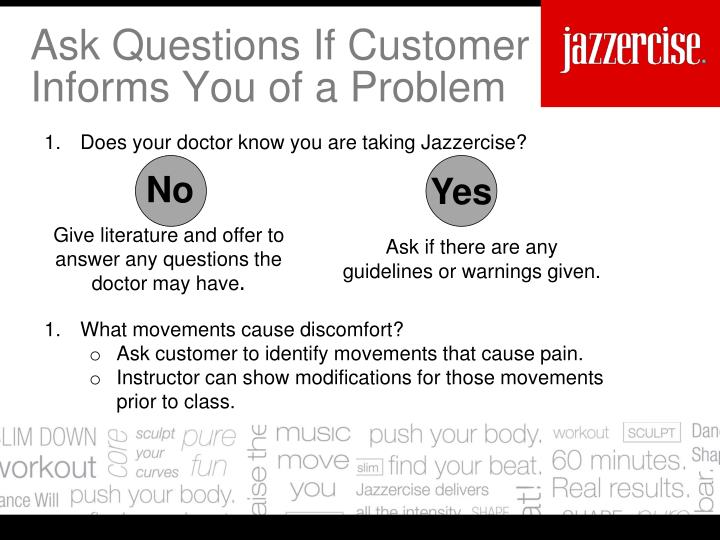 Ask Questions If Customer